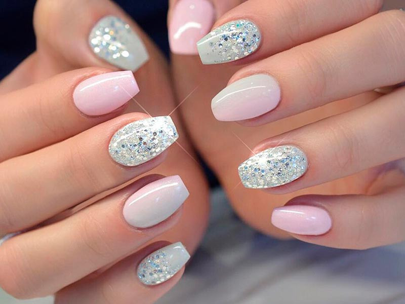 Glitter Nail Designs For Short Nails  Unfor table Short Coffin Nails Ideas