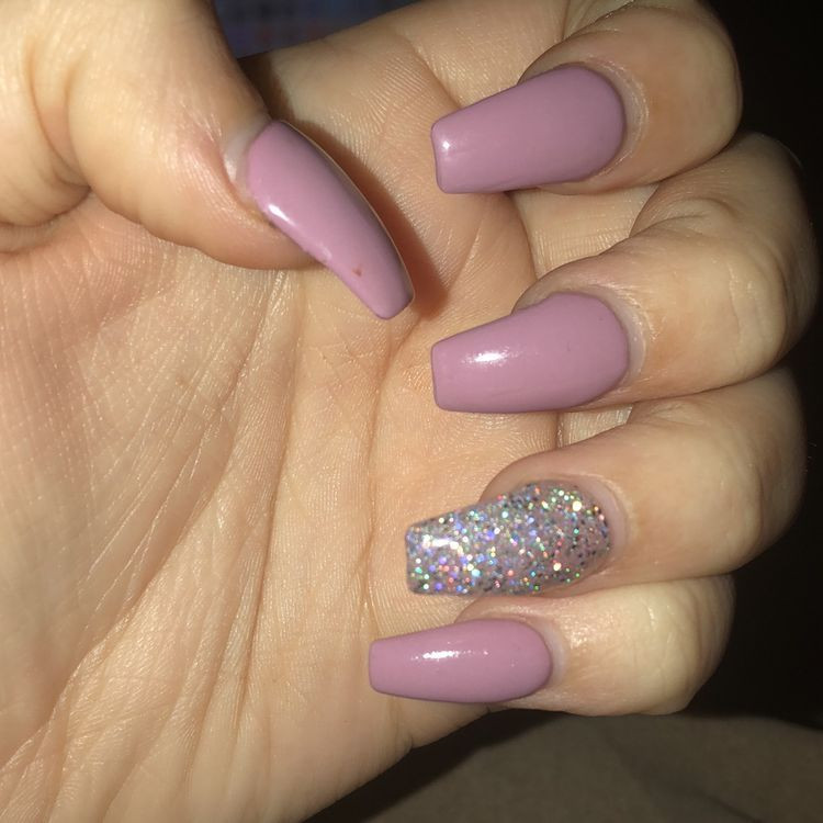 Glitter Nail Designs For Short Nails  86 Simple Acrylic Nail Design Ideas For Short Nails For