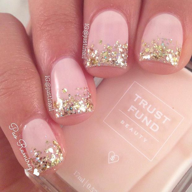 Glitter Nail Designs For Short Nails  18 Great Nail Designs for Short Nails Pretty Designs