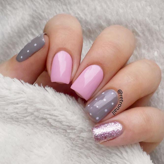 Glitter Nail Designs For Short Nails  Pretty And Simple Nail Designs For Short Nails Worth Trying