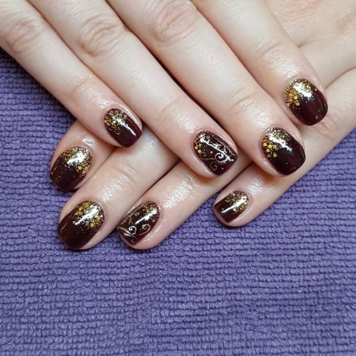 Glitter Nail Designs For Short Nails  20 New Year Nail Designs Idea