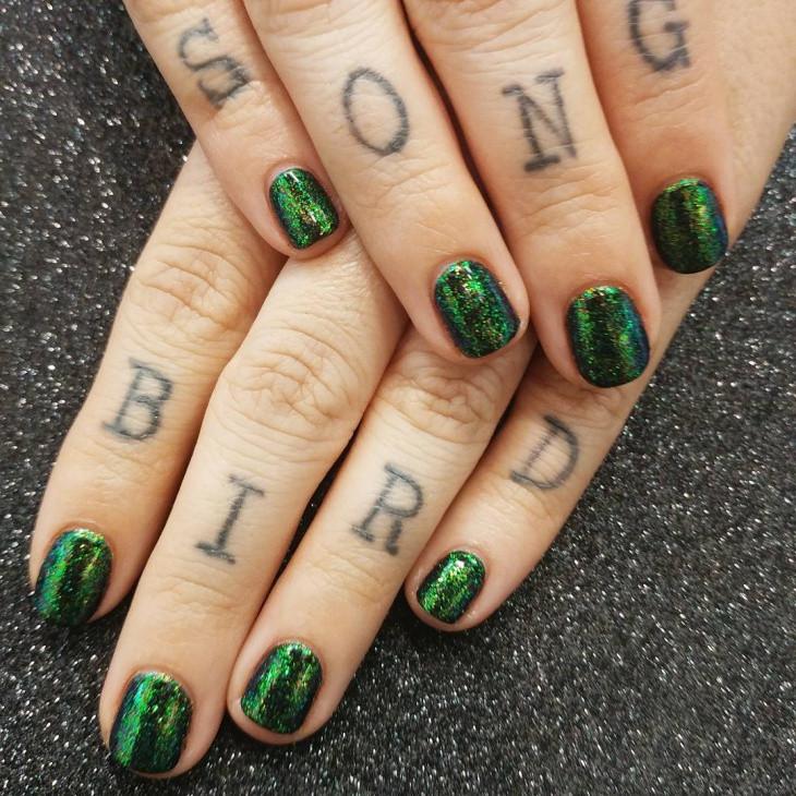 Glitter Nail Designs For Short Nails  59 Short Nail Designs Ideas