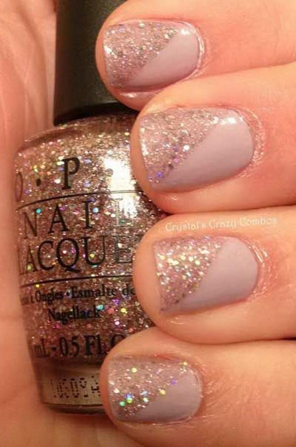 Glitter Nail Designs For Short Nails  70 Stunning Glitter Nail Designs 2017