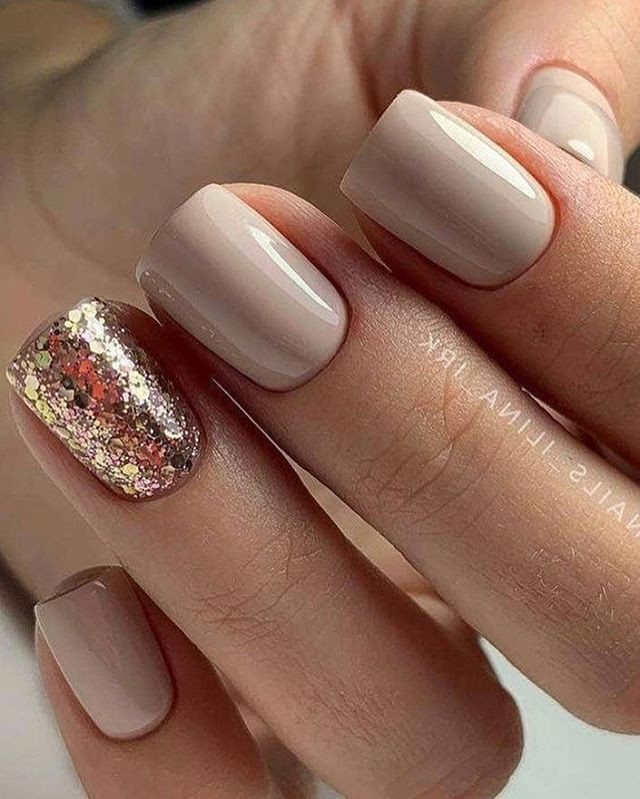 Glitter Nail Designs For Short Nails  Best Nail Ideas For Short Nails in 2020 With images
