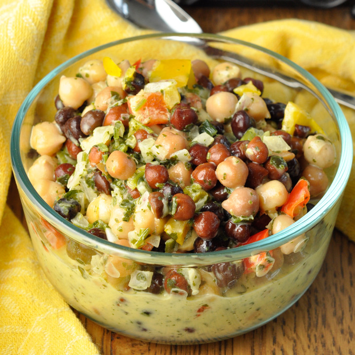 Gluten Free Side Dishes Summer  Summer Chickpea Black Bean Salad