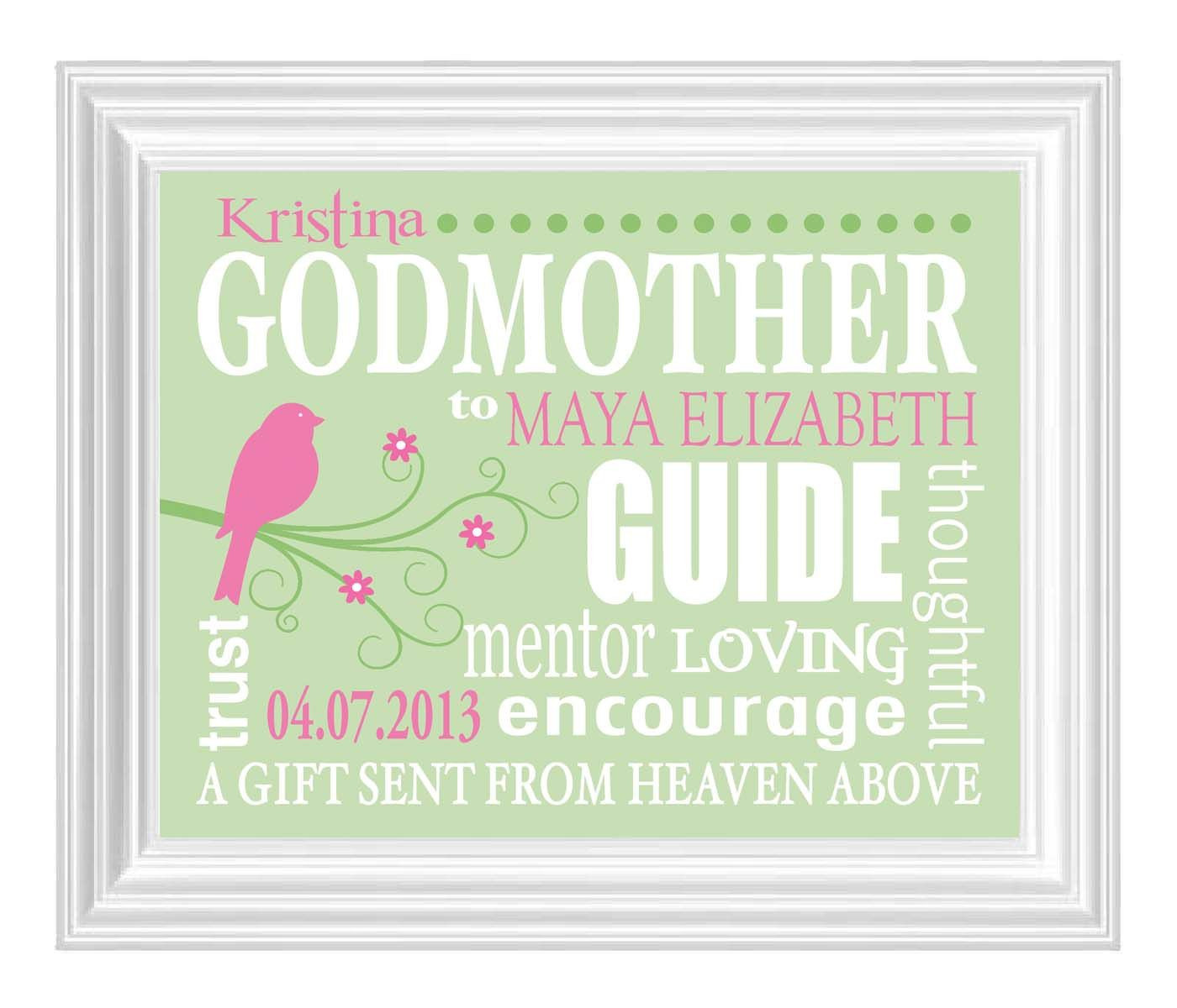 Godmother Quotes  GODMOTHER Gift Gift from Godchild Personalized Print