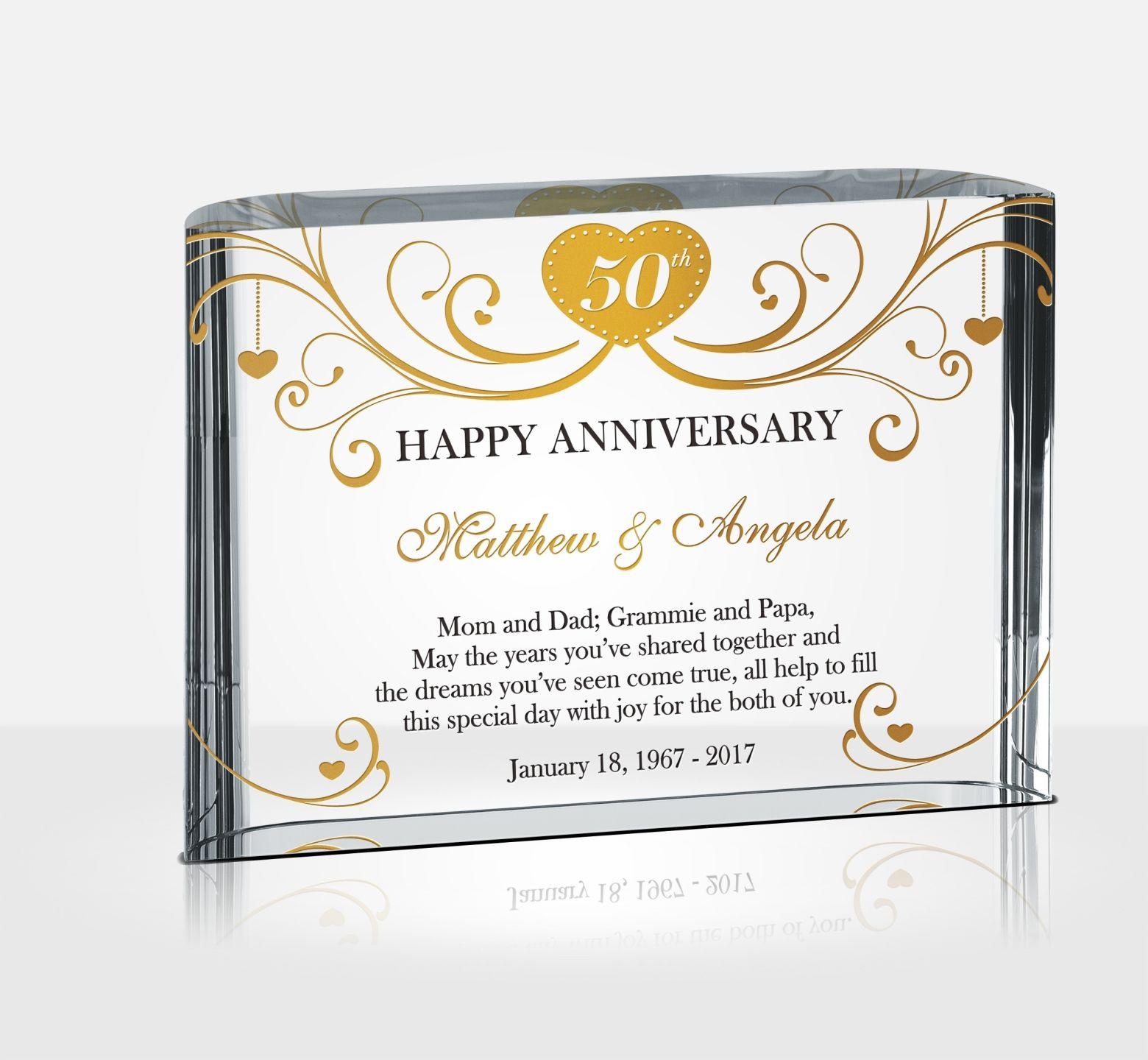 Golden Anniversary Gift Ideas  50th Golden Wedding Anniversary Gifts DIY Awards