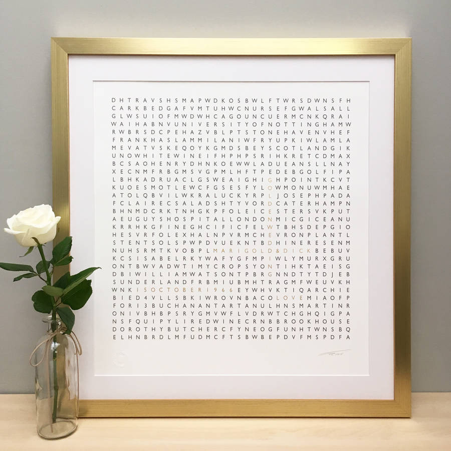 Golden Anniversary Gift Ideas  personalised golden wedding anniversary t 24ct gold by