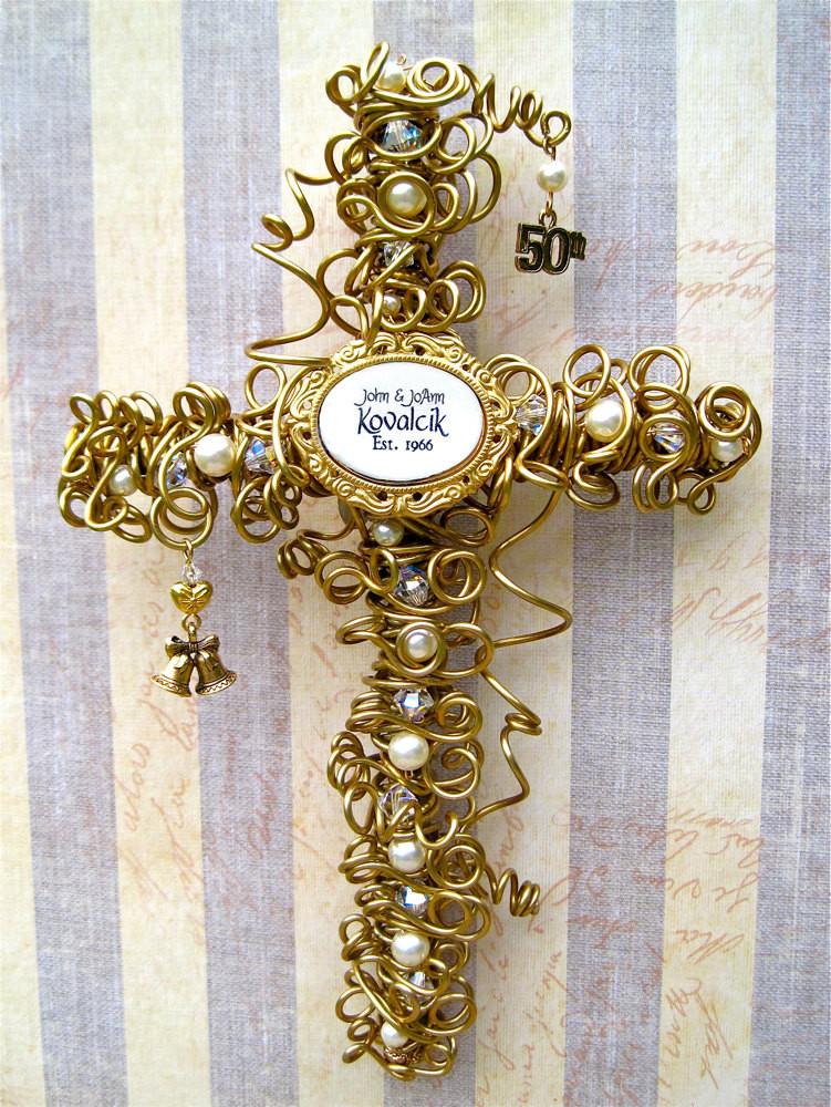 Golden Anniversary Gift Ideas  50th Anniversary 50th Wedding Anniversary Gift Cross
