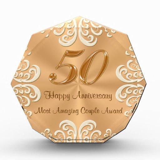 Golden Anniversary Gift Ideas  Customizable 50th Golden Wedding Anniversary Gifts Acrylic