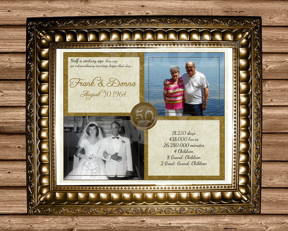Golden Anniversary Gift Ideas  50th Anniversary Gift Gold 50th Wedding Anniversary