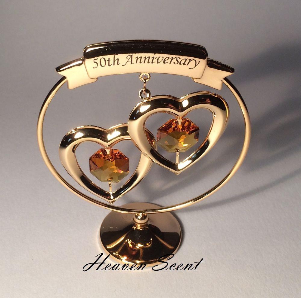 Golden Anniversary Gift Ideas  50th Golden Wedding Anniversary Gift Ideas Gold Plated