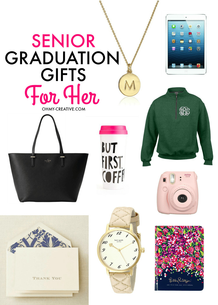 Graduation Gift Ideas For Daughter  Senior Graduation Gifts for Her Oh My Creative