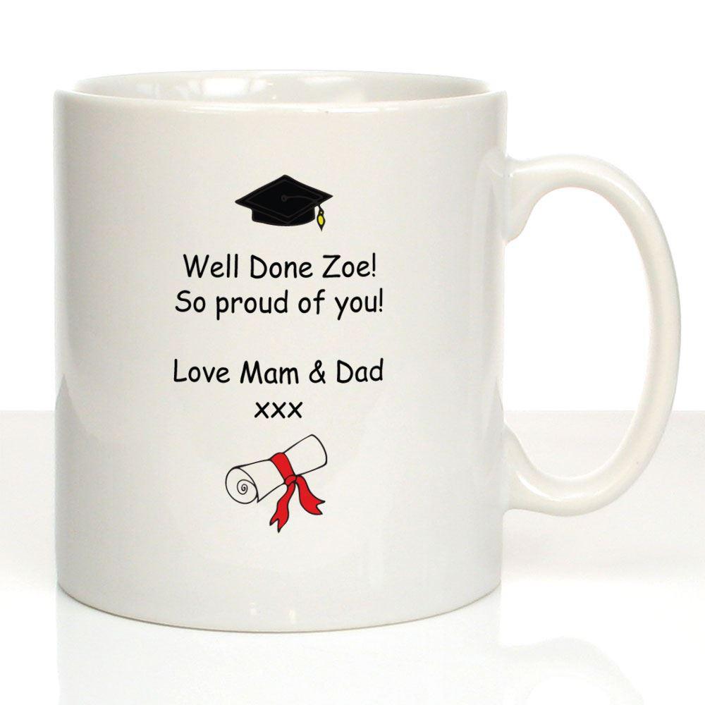 Graduation Gift Ideas For Her Masters Degree  Personalised Girl s Graduation Mug Graduate Gift Ideas