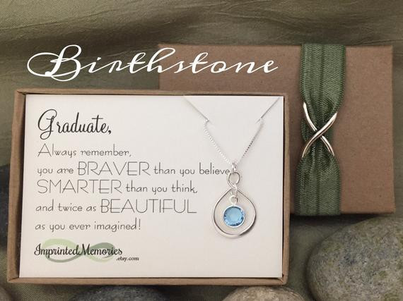 Graduation Gift Ideas For Her Masters Degree  GRADUATE Graduation Gifts for Her Sterling Silver Birthstone