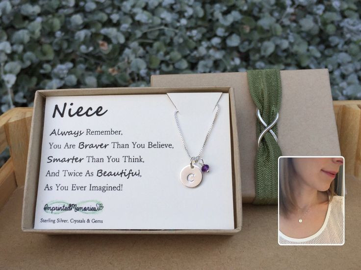 Graduation Gift Ideas For Niece  Gifts for Niece Birthstone Niece jewelry Sterling