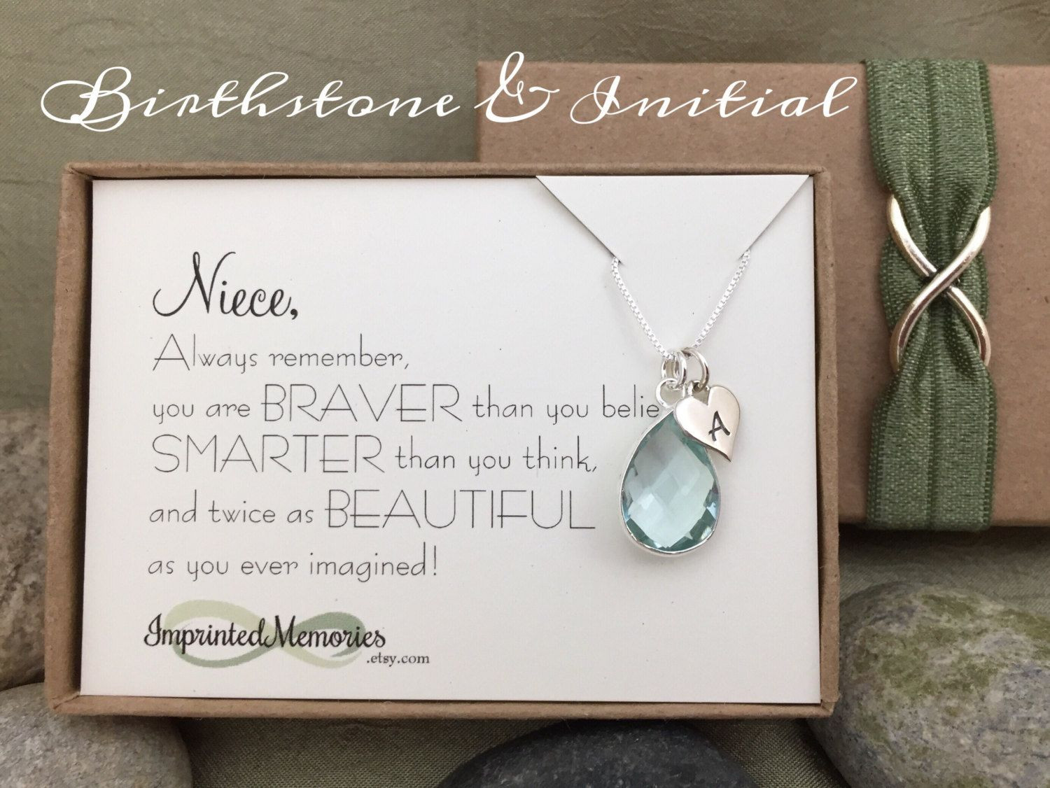 Graduation Gift Ideas For Niece  Gifts for Niece Jewelry Sterling Silver Birthstone