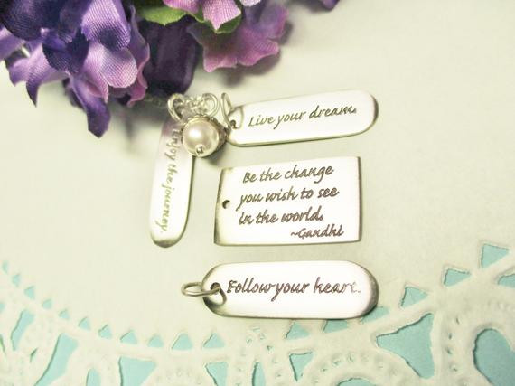 Graduation Gift Ideas For Niece  Graduation Gift Quote Jewelry Inspirational by Jewelrybydanne