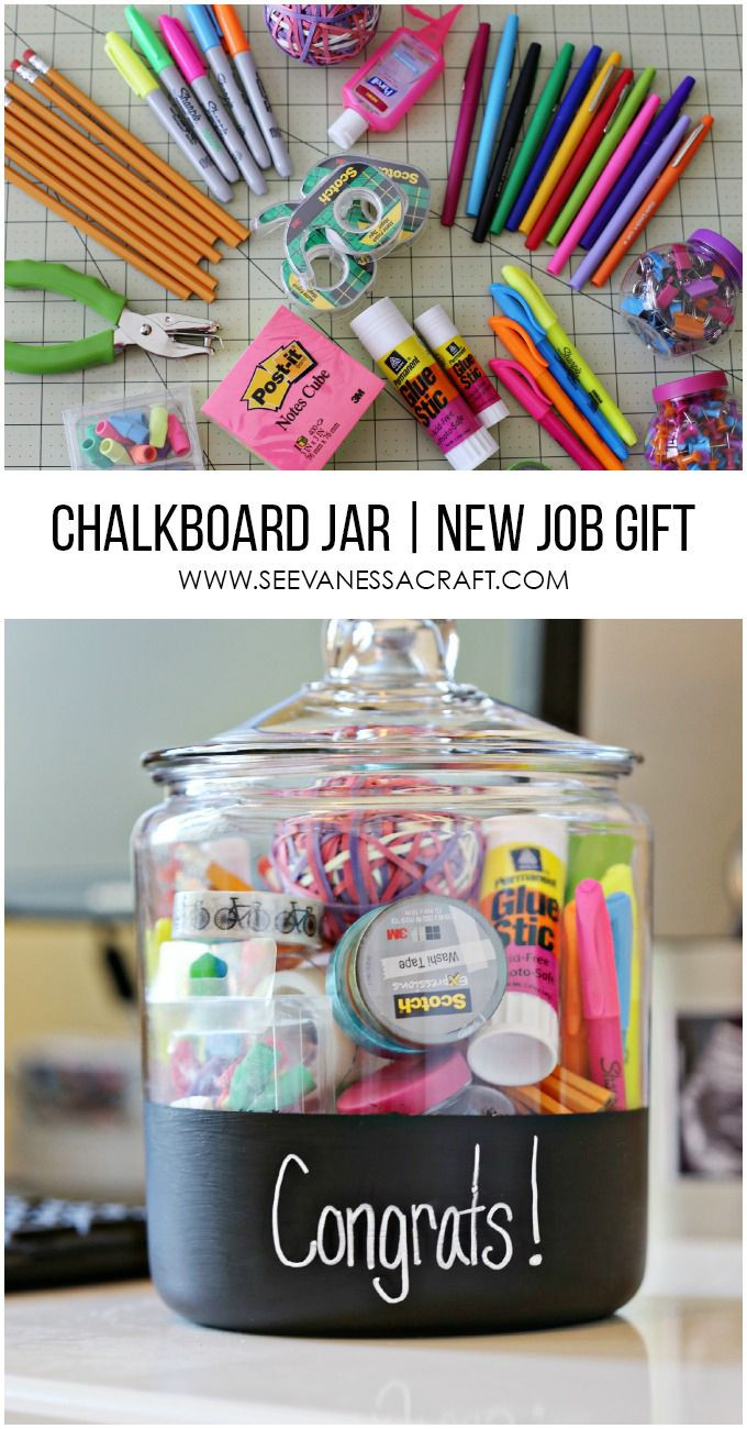 Graduation Gift Ideas For Teachers  Craft New Job Gift in a Chalkboard Jar