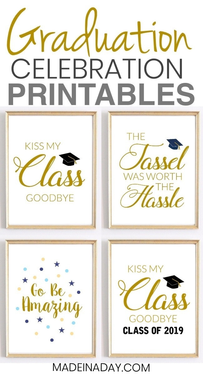Graduation Quotes  Celebration Quotes Graduation Printables for Party Decor
