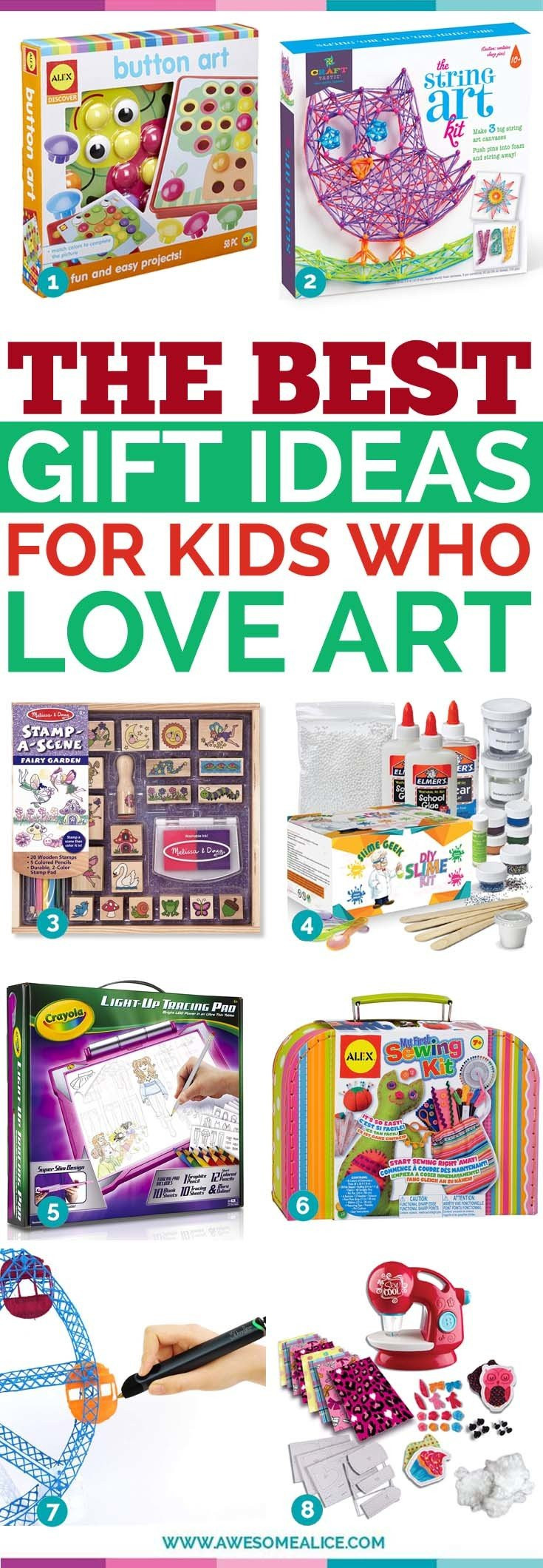 Great Gift Ideas For Kids  Top 30 Gift Ideas for Creative Kids Who Love Art