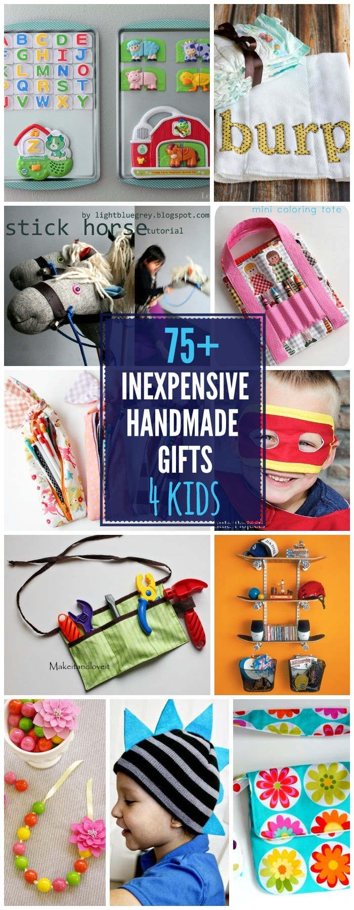 Great Gift Ideas For Kids  75 DIY Gifts For Kids