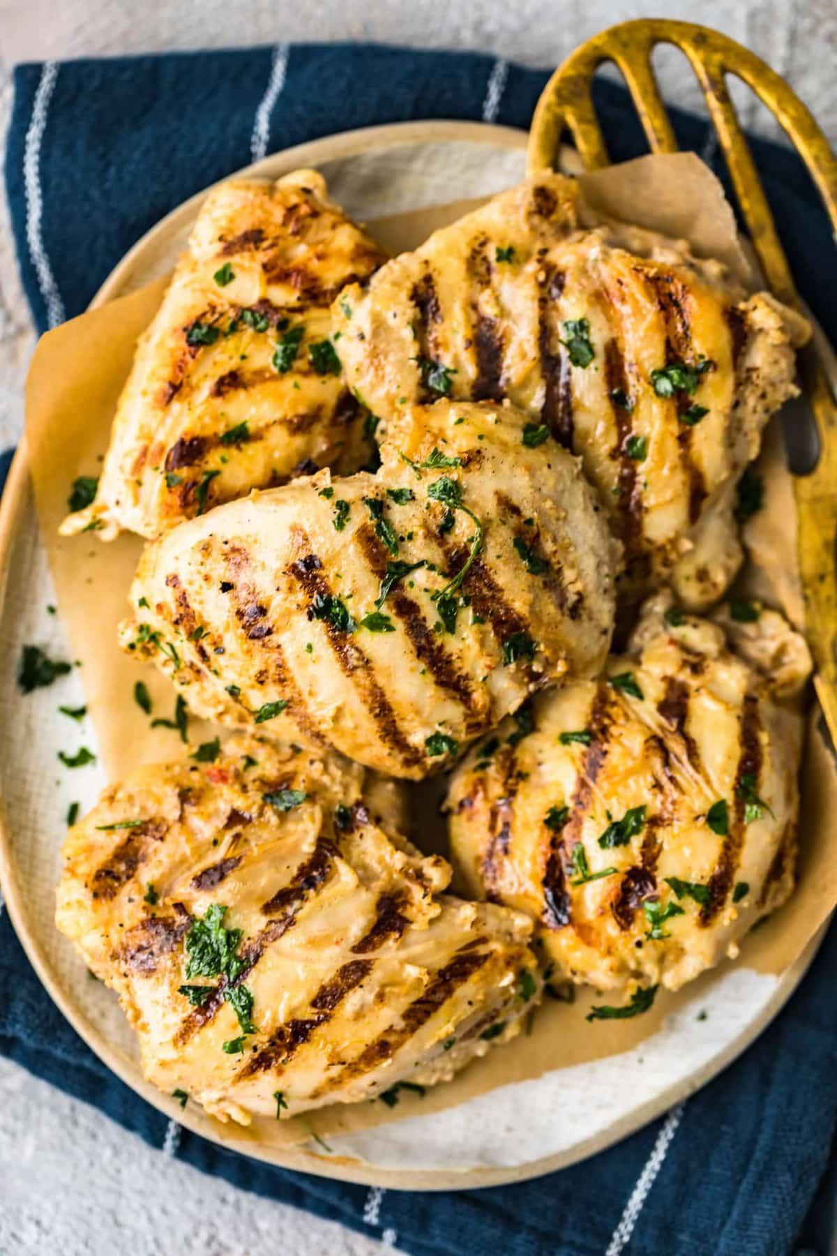 Grilled Chicken Thighs Marinade  Yogurt Marinated Chicken Thighs Recipe Grilled Chicken
