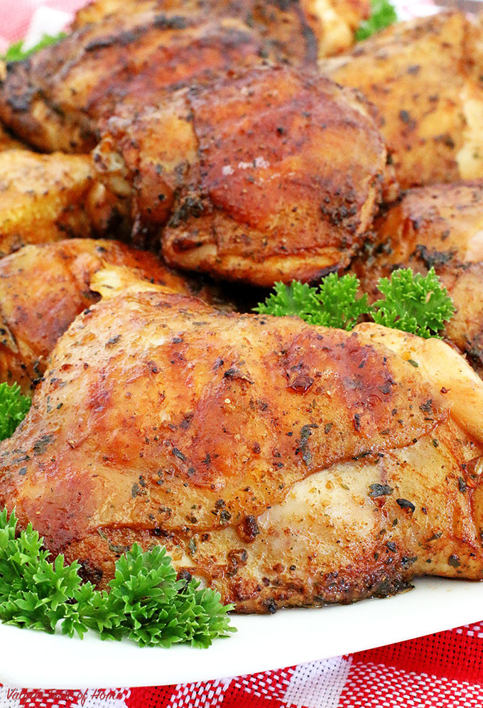 Grilled Chicken Thighs Marinade  Grilled Marinated Chicken Thighs Valya s Taste of Home