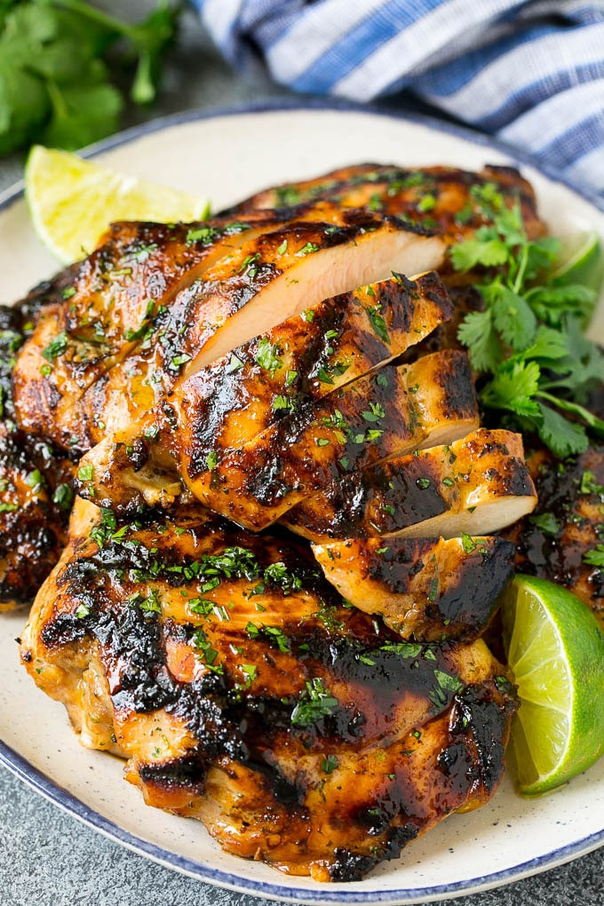 Grilled Chicken Thighs Marinade  Grilled Chicken Thighs with Cilantro and Lime Dinner at