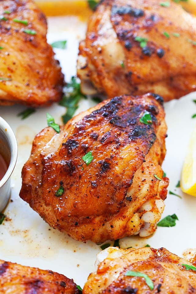 Grilled Chicken Thighs Marinade  Juicy Grilled Chicken Thighs The Best Recipe Ever