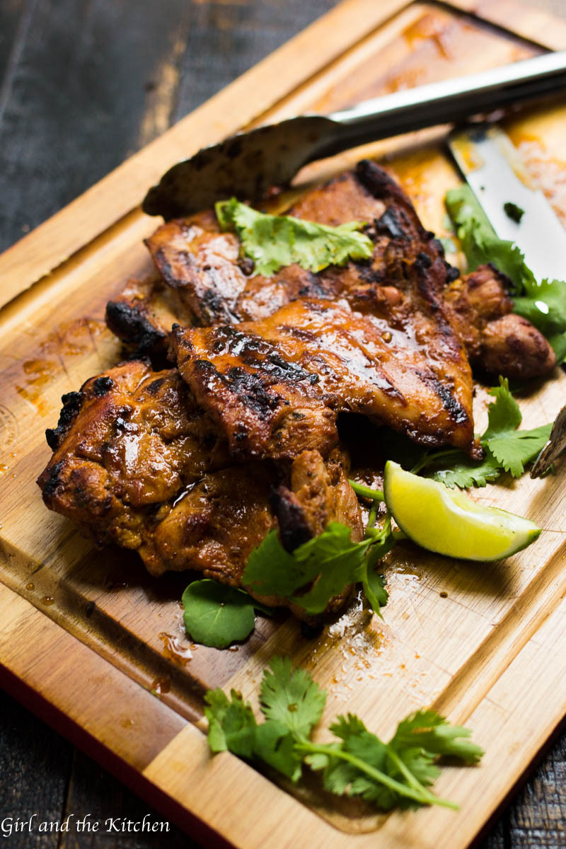 Grilled Chicken Thighs Marinade  Serrano Soy Juicy Grilled Chicken Thighs Girl and the