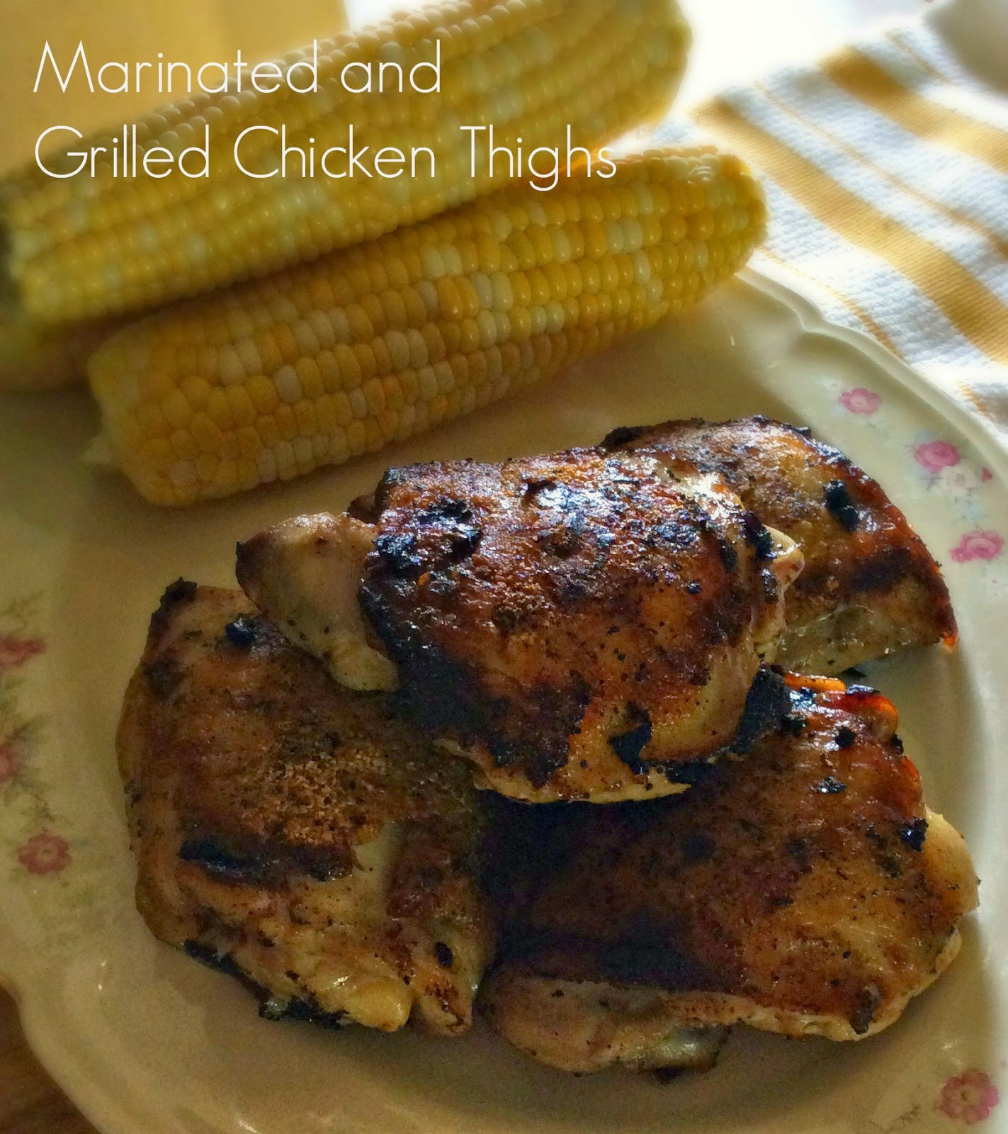 Grilled Chicken Thighs Marinade  Cooking A Bud Marinated and Grilled Chicken Thighs