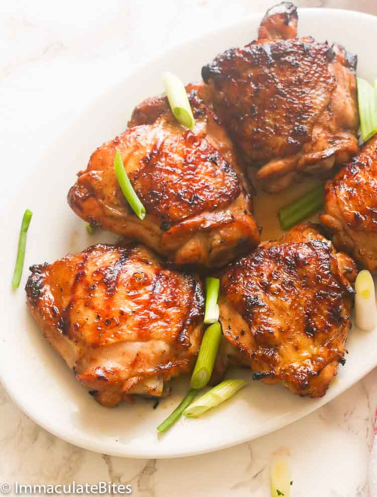 Grilled Chicken Thighs Marinade  Hawaiian Grilled Chicken Thighs Immaculate Bites