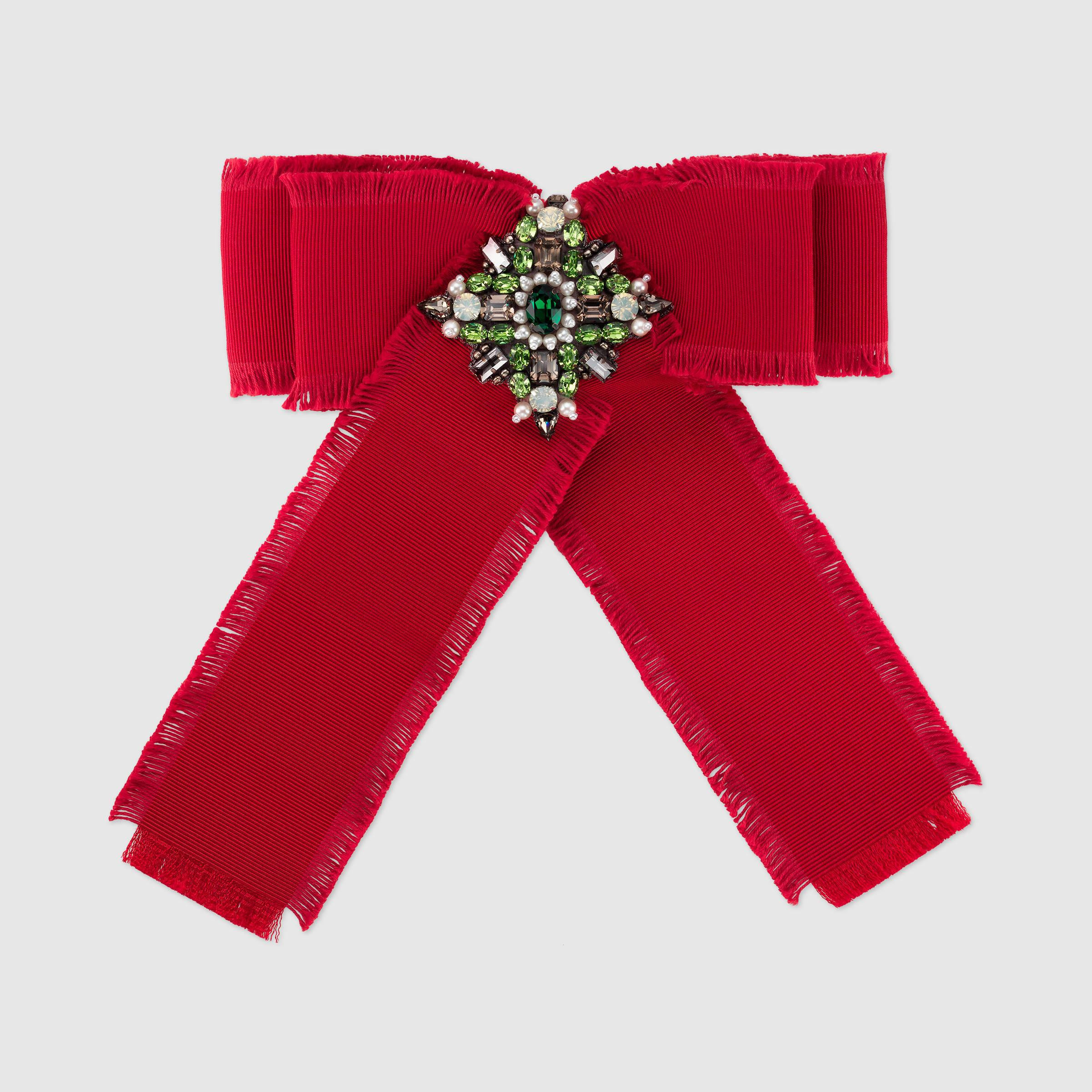 Gucci Brooches  Gucci Grosgrain Bow Brooch in Red