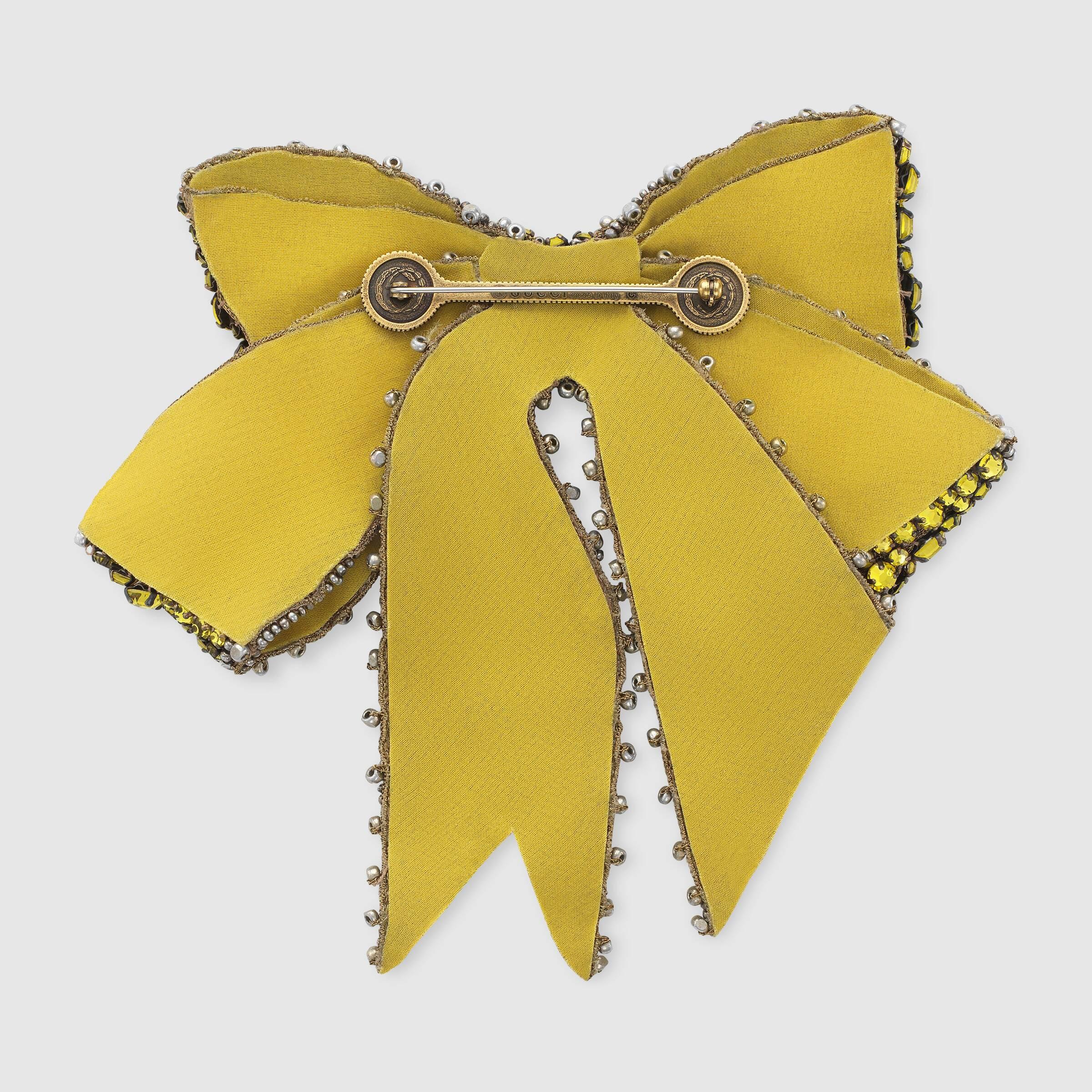 Gucci Brooches  Crystal bow brooch Gucci Fashion Brooches & Pins