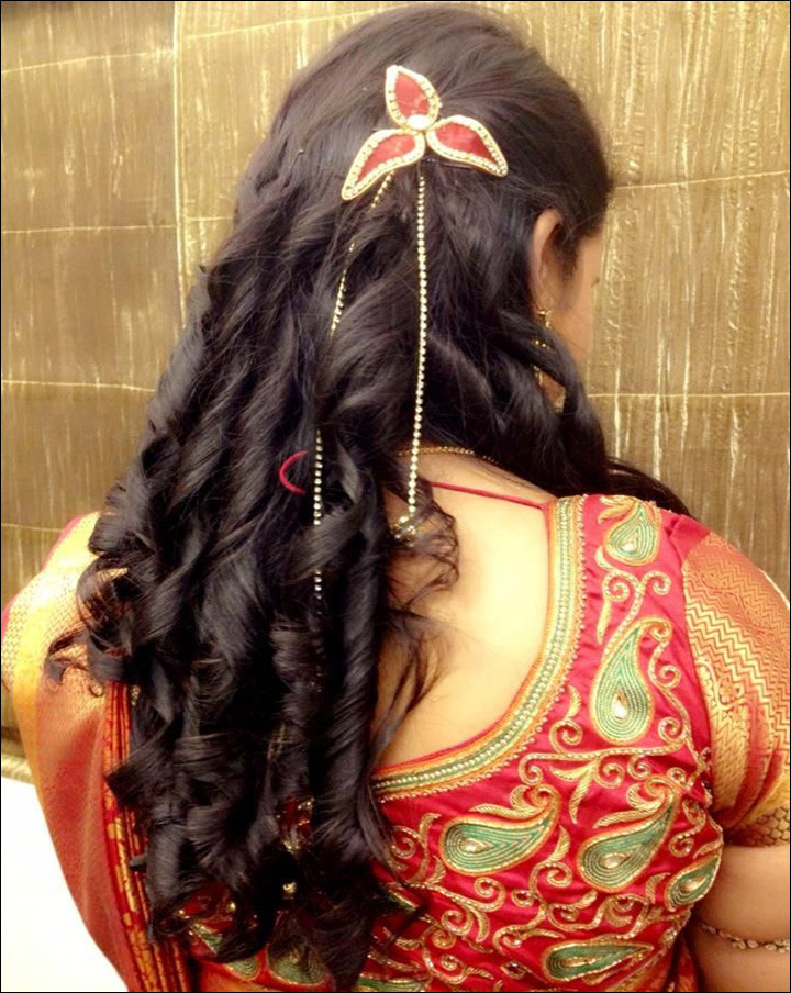 Hairstyles For Indian Brides  5 Gorgeous Contemporary Indian Bridal Hairstyles For Reception
