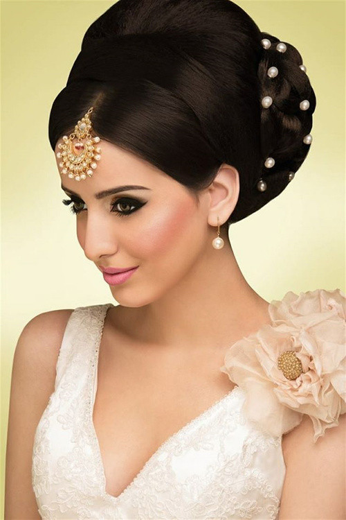 Hairstyles For Indian Brides  Hairstyles For Indian Wedding – 20 Showy Bridal Hairstyles