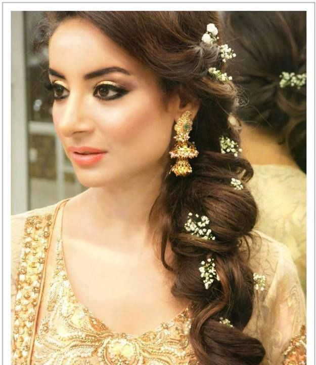 Hairstyles For Indian Brides  Long Hairstyle For Curly Hair For Indian Brides