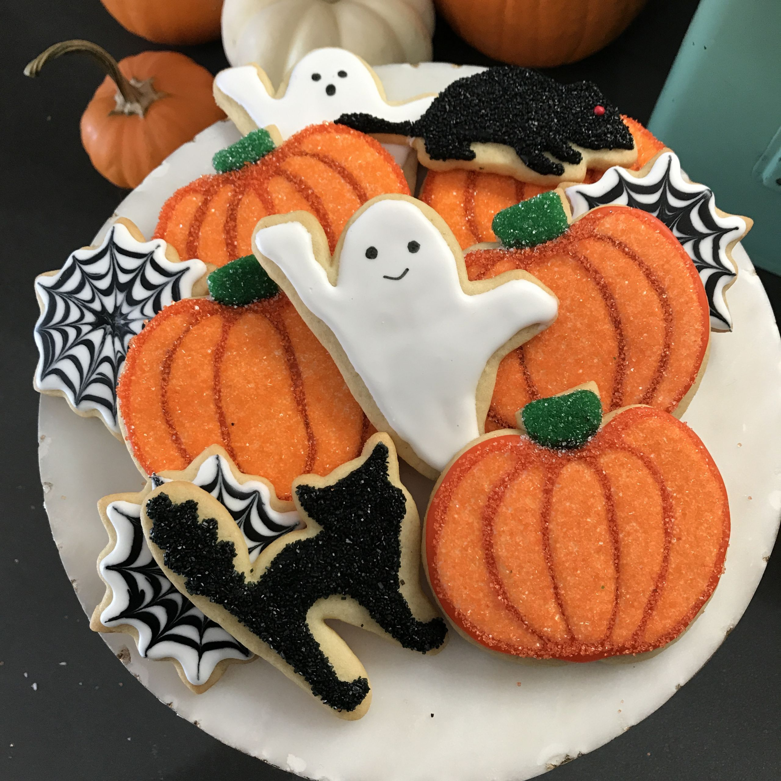 Halloween Cookies Pictures  Black and White Halloween Cookies – Bakers Brigade