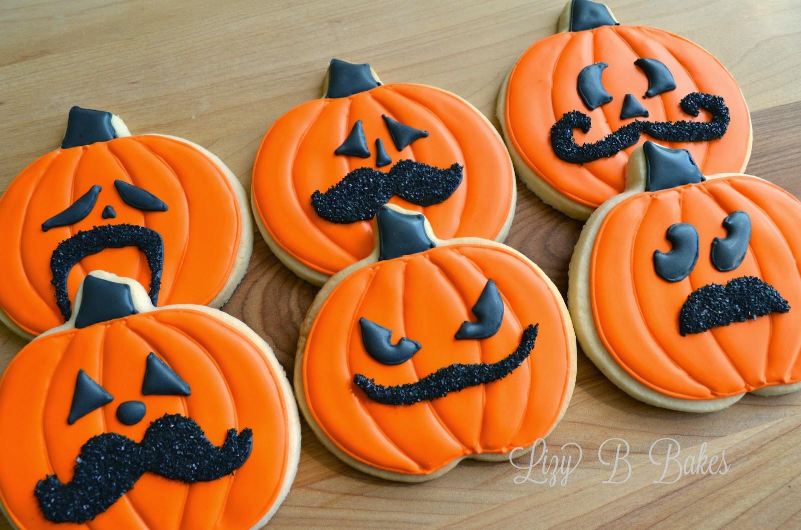 Halloween Cookies Pictures  Lizy B Halloween Mustache Cookies