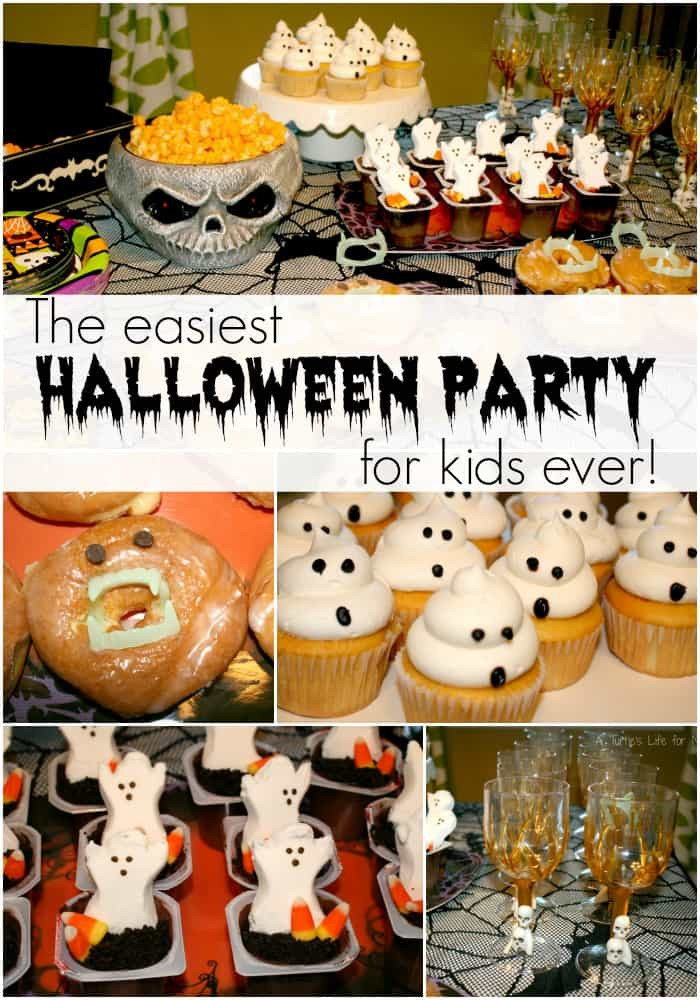 Halloween Themed Kid Party Ideas  Easiest Kids Halloween Party Ever A Turtle s Life for Me
