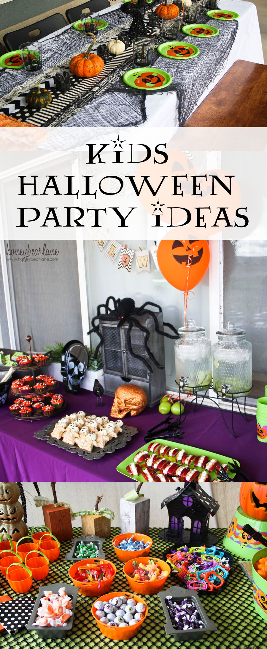 Halloween Themed Kid Party Ideas  Kids Halloween Party Ideas Honeybear Lane