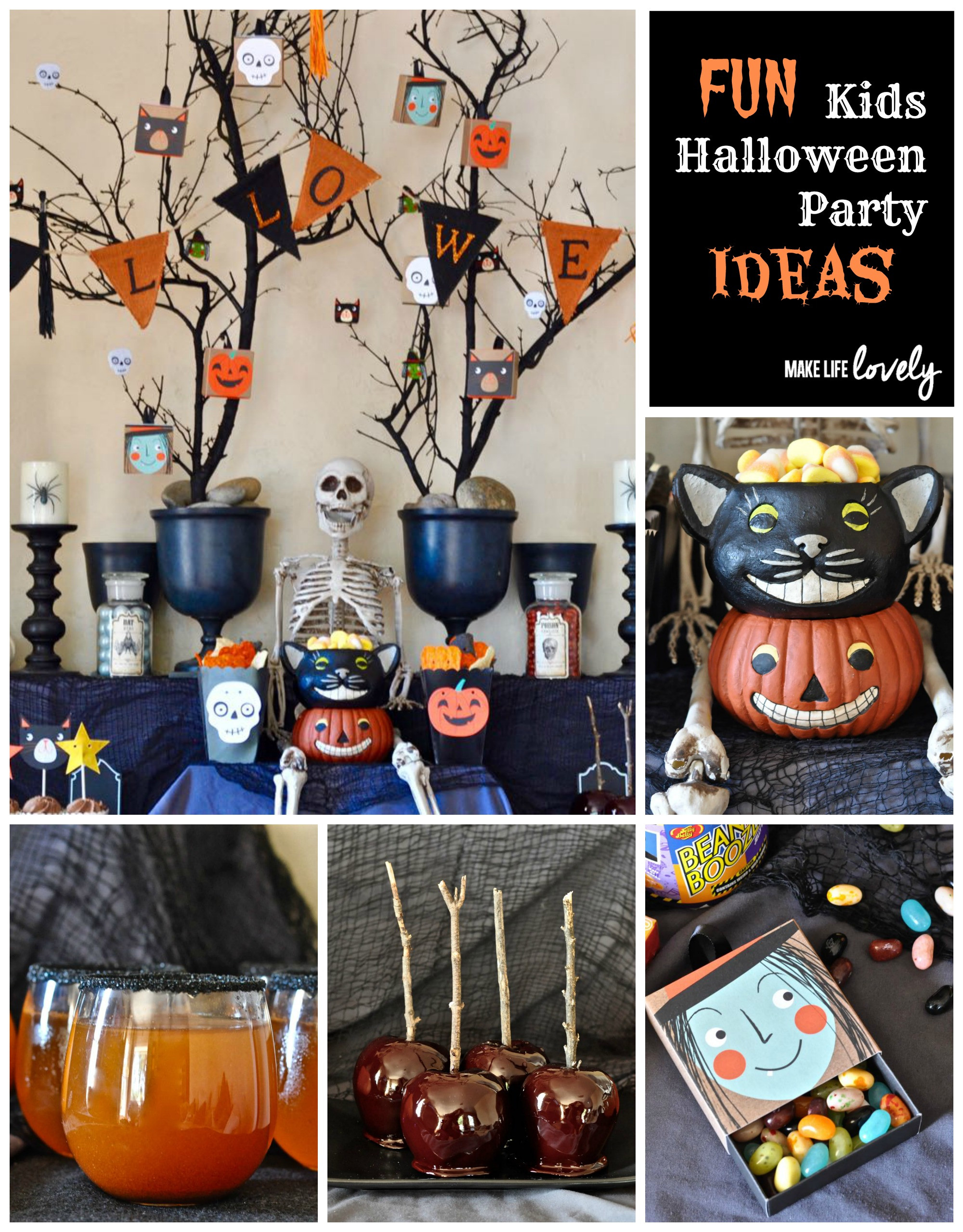 Halloween Themed Kid Party Ideas  kids Halloween party
