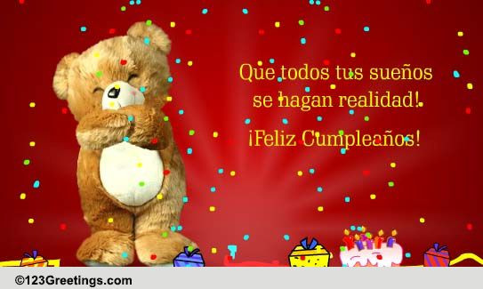 Happy Birthday In Spanish Quotes  An Amazing Spanish Birthday Wish Free Specials eCards