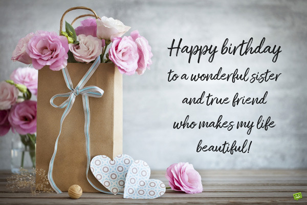 Happy Birthday Quotes For Sister  Birthday Quotes for your Sister