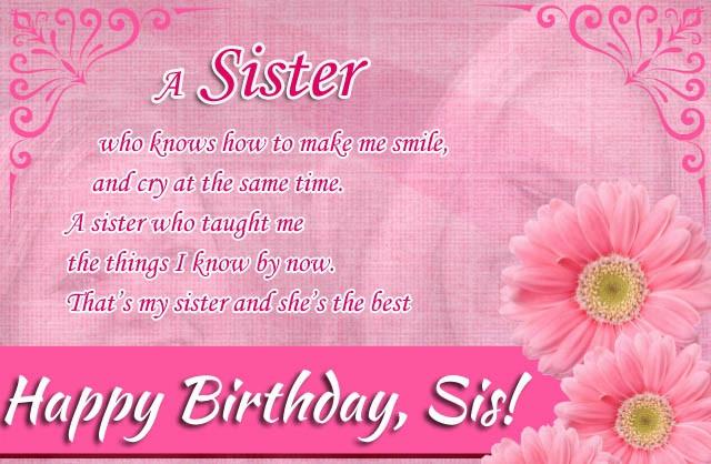 Happy Birthday Quotes For Sister  Happy Birthday quotes for Sister ts images This Blog