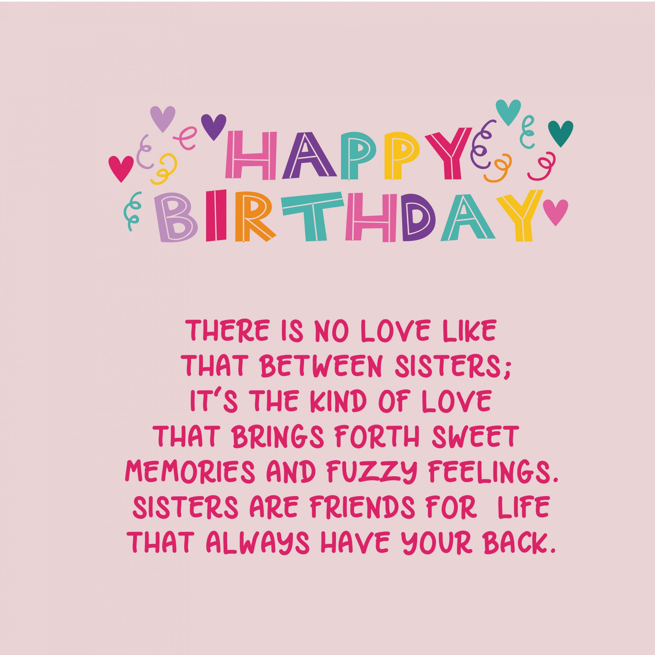 Happy Birthday Quotes For Sister  220 Birthday Wishes for Sister Top Happy Birthday Wishes