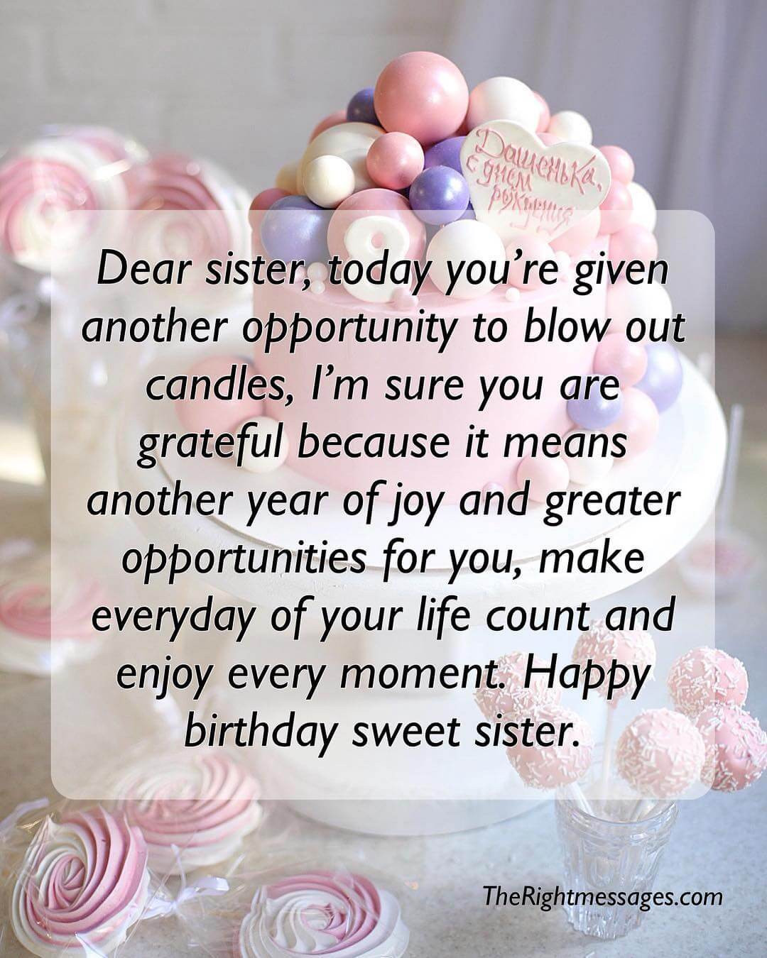 Happy Birthday Quotes For Sister  Short And Long Birthday Messages Wishes & Quotes For