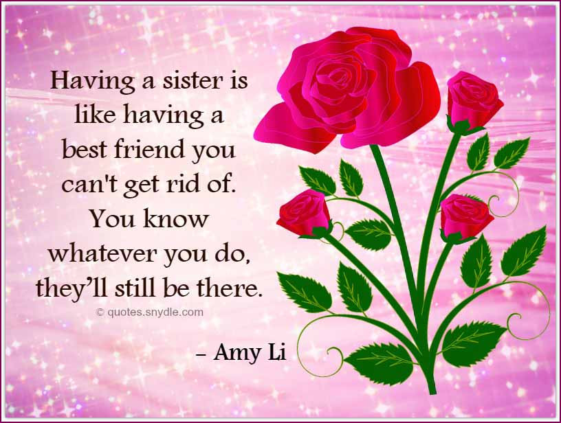 Happy Birthday Quotes For Sister  Birthday Quotes for Sister Quotes and Sayings