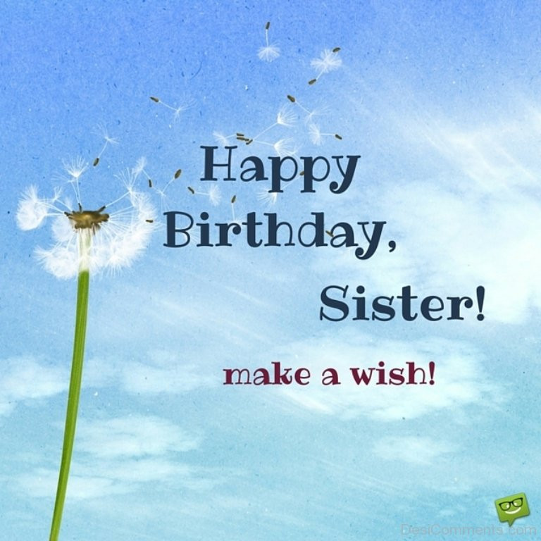 Happy Birthday Quotes For Sister  Birthday Wishes for Sister Graphics for
